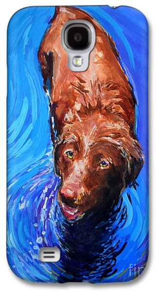 Chocolate Labrador Retriever Galaxy S4 Cases - Spin Cycle Galaxy S4 Case by Molly Poole