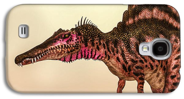 Extinct And Mythical Digital Art Galaxy S4 Cases - Spinosaurus Dinosaur Galaxy S4 Case by Bob Orsillo