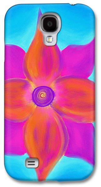 Daina White Galaxy S4 Cases - Spiral Flower Galaxy S4 Case by Daina White