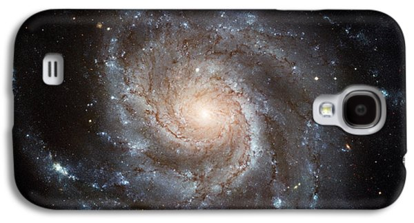 Stellar Paintings Galaxy S4 Cases - Spiral Galaxy M101 Galaxy S4 Case by Nasa