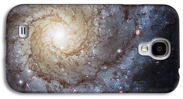 Recently Sold -  - Abstract Nature Galaxy S4 Cases - Spiral Galaxy M74 Galaxy S4 Case by Adam Romanowicz