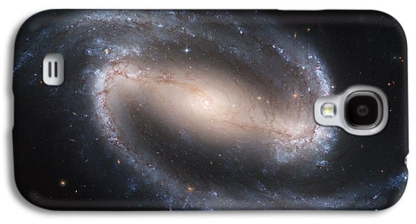 Nature Abstract Pyrography Galaxy S4 Cases - Spiral galaxy NGC1300 Galaxy S4 Case by Celestial Images