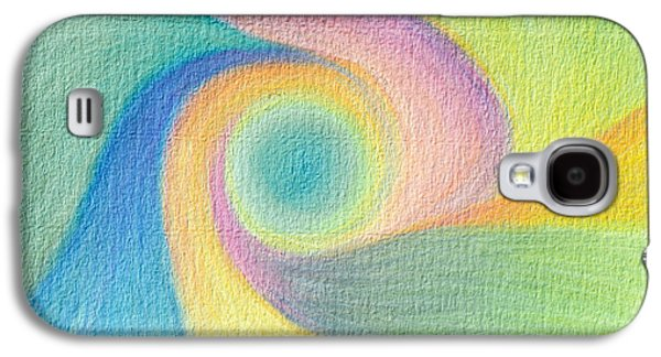 Spiral Pastels Galaxy S4 Cases - Spiral of Life Galaxy S4 Case by Judith Chantler