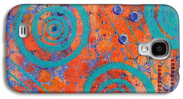 Abstract Movement Mixed Media Galaxy S4 Cases - Spiral Series - Continual Galaxy S4 Case by Moon Stumpp