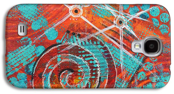 Abstract Movement Mixed Media Galaxy S4 Cases - Spiral Series - Missive Galaxy S4 Case by Moon Stumpp