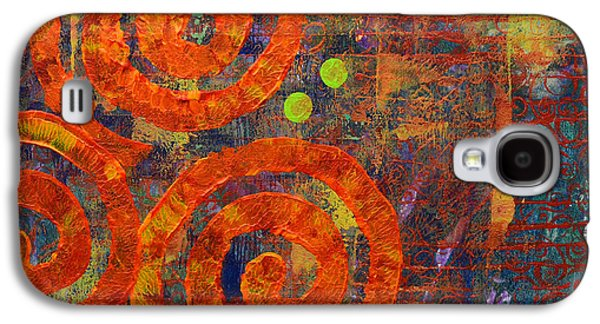 Abstract Movement Mixed Media Galaxy S4 Cases - Spiral Series - Railing Galaxy S4 Case by Moon Stumpp