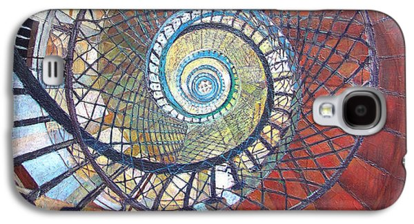 Staircase Paintings Galaxy S4 Cases - Spiral Staircase Galaxy S4 Case by Elizabeth D