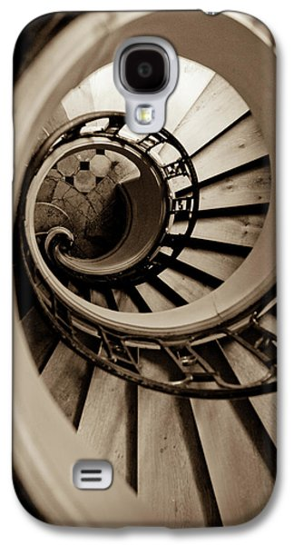 Wooden Stairs Galaxy S4 Cases - Spiral Staircase Galaxy S4 Case by Sebastian Musial