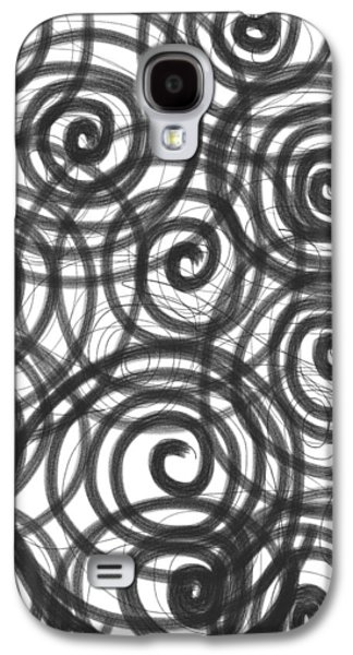 Daina White Galaxy S4 Cases - Spirals of Love Galaxy S4 Case by Daina White