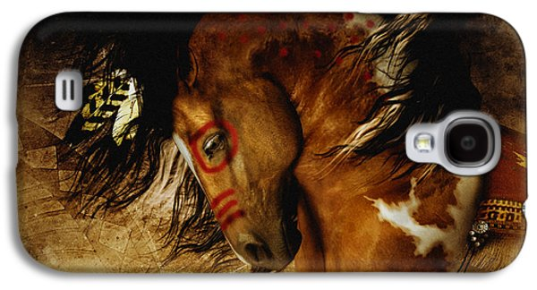 Eagle Mixed Media Galaxy S4 Cases - Spirit Horse Galaxy S4 Case by Shanina Conway