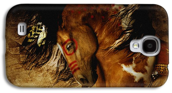 Earth Tones Galaxy S4 Cases - Spirit Horse Galaxy S4 Case by Shanina Conway