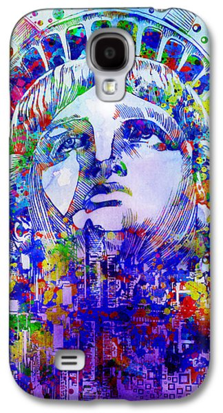 Statue Portrait Galaxy S4 Cases - Spirit Of The City 2 Galaxy S4 Case by MB Art factory