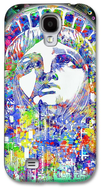 Statue Portrait Galaxy S4 Cases - Spirit Of The City 4 Galaxy S4 Case by MB Art factory