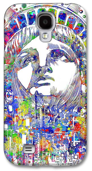 Statue Portrait Galaxy S4 Cases - Spirit Of The City Galaxy S4 Case by MB Art factory