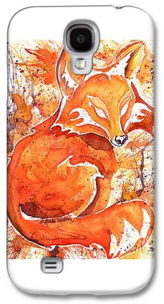 Fox Kit Paintings Galaxy S4 Cases - Spirit of the Fox Galaxy S4 Case by D Renee Wilson