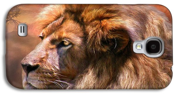 Lions Mixed Media Galaxy S4 Cases - Spirit Of The Lion Galaxy S4 Case by Carol Cavalaris