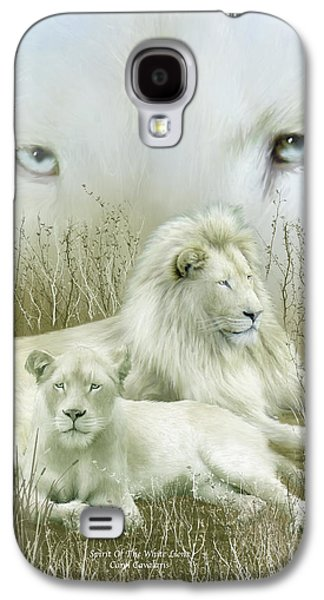 Lions Mixed Media Galaxy S4 Cases - Spirit Of The White Lions Galaxy S4 Case by Carol Cavalaris