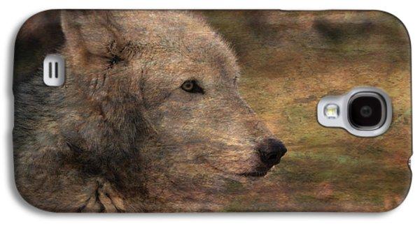 Native American Spirit Portrait Galaxy S4 Cases - Spirit Of The Wolf Galaxy S4 Case by Deena Stoddard