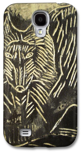 Native Reliefs Galaxy S4 Cases - Spirit World On Black Osidian Carving Stone Galaxy S4 Case by Brunet Mario