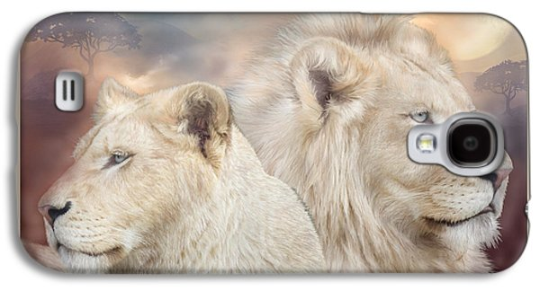 Lions Mixed Media Galaxy S4 Cases - Spirits Of Light Galaxy S4 Case by Carol Cavalaris