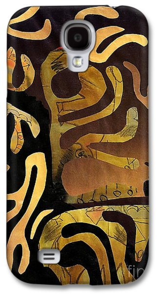 Avant Garde Mixed Media Galaxy S4 Cases - Spiritual Drummer Galaxy S4 Case by Sarah Loft