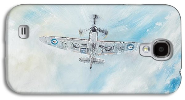 Dogfight Galaxy S4 Cases - Spitfire Galaxy S4 Case by Vincent Alexander Booth