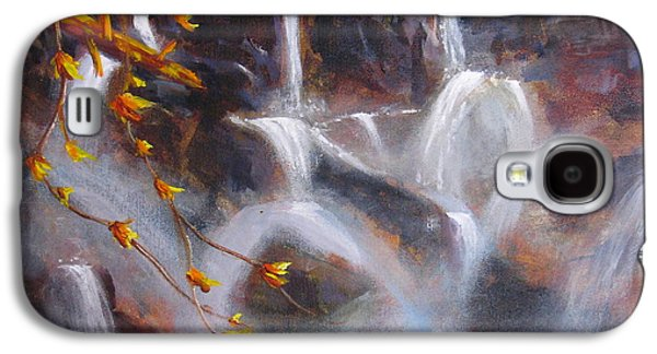 Beautiful Creek Paintings Galaxy S4 Cases - Splash And Trickle Galaxy S4 Case by Mohamed Hirji