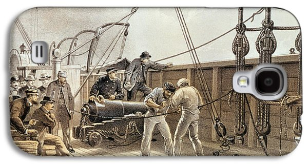 Splicing The Trans-atlantic Telegraph Cable After The First Accident On Board The Great Eastern Galaxy S4 Case by Robert Dudley