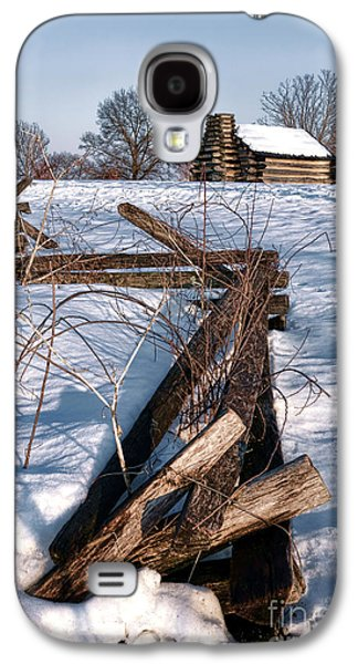 Split Rail Fence Galaxy S4 Cases - Split Rail and Nation Galaxy S4 Case by Olivier Le Queinec