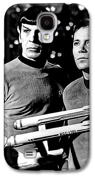 Best Sellers -  - Enterprise Galaxy S4 Cases - SPOCK and CAPTAIN KIRK Galaxy S4 Case by Daniel Hagerman