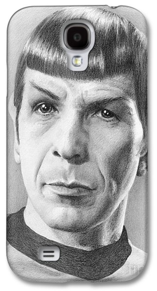 Enterprise Galaxy S4 Cases - Spock - Fascinating Galaxy S4 Case by Liz Molnar