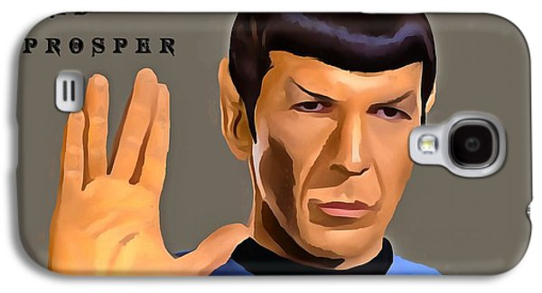 Enterprise Galaxy S4 Cases - Spock Live Long Galaxy S4 Case by Dan Sproul
