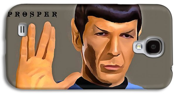 Enterprise Mixed Media Galaxy S4 Cases - Spock Live Long Galaxy S4 Case by Dan Sproul