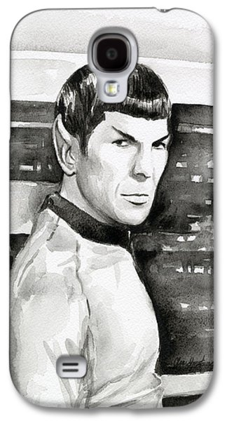 Science Fiction Paintings Galaxy S4 Cases - Spock Galaxy S4 Case by Olga Shvartsur