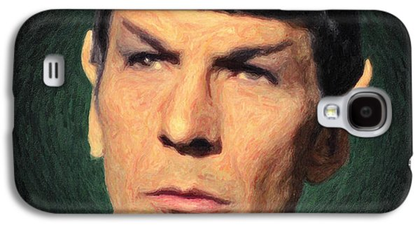 Enterprise Galaxy S4 Cases - Spock Galaxy S4 Case by Taylan Soyturk