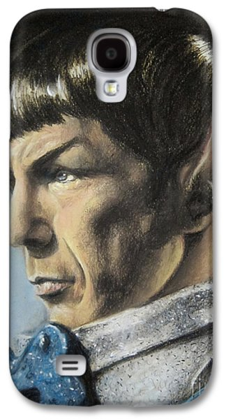 Enterprise Galaxy S4 Cases - Spock - The Pain of Loss Galaxy S4 Case by Liz Molnar