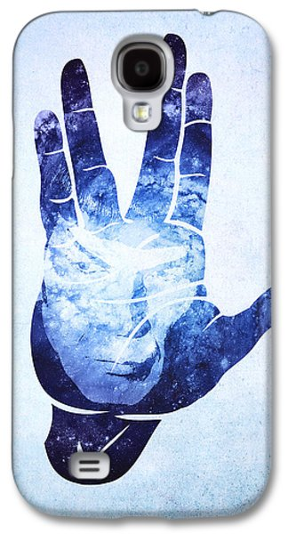 Enterprise Galaxy S4 Cases - Spocks Hand Leonard Nimoy Geek Tribute Galaxy S4 Case by Philipp Rietz