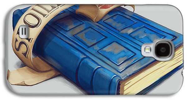 Tardis Galaxy S4 Cases - Spoilers- River Songs Tardis Journal Galaxy S4 Case by Dorianne Dutrieux