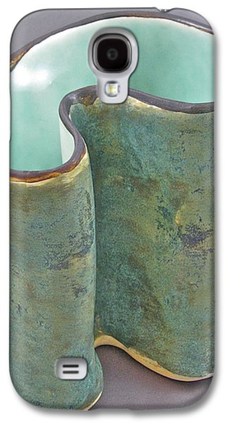 Abstract Ceramics Galaxy S4 Cases - Spontaneous 07-018 Galaxy S4 Case by Mario Perron