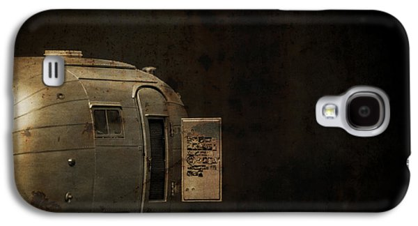 Creepy Galaxy S4 Cases - Spooky Airstream Campsite Galaxy S4 Case by Edward Fielding