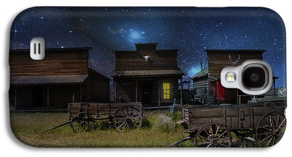 Log Cabin Photographs Galaxy S4 Cases - Spooky Ghost Town Galaxy S4 Case by Juli Scalzi