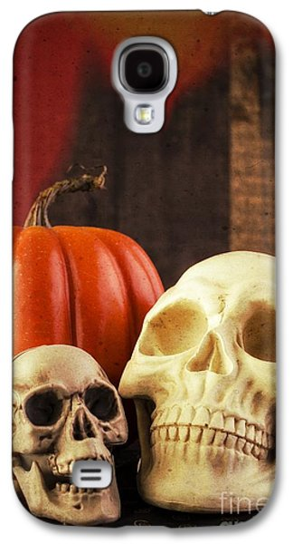 Creepy Galaxy S4 Cases - Spooky Halloween Skulls Galaxy S4 Case by Edward Fielding