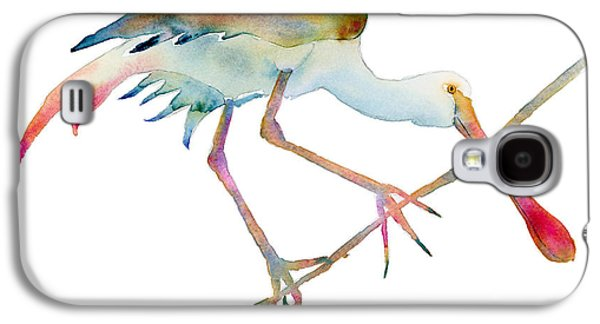 Water Fowl Galaxy S4 Cases - Spoonbill  Galaxy S4 Case by Amy Kirkpatrick