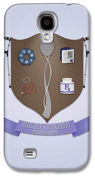 Crutch Digital Galaxy S4 Cases - Spoonie Coat of Arms Galaxy S4 Case by SarahCate Philipson