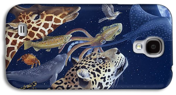 Space Paintings Galaxy S4 Cases - Spots Collage Galaxy S4 Case by Laura Regan