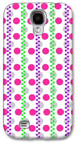 Modern Digital Art Galaxy S4 Cases - Spotty Stripe Galaxy S4 Case by Louisa Hereford