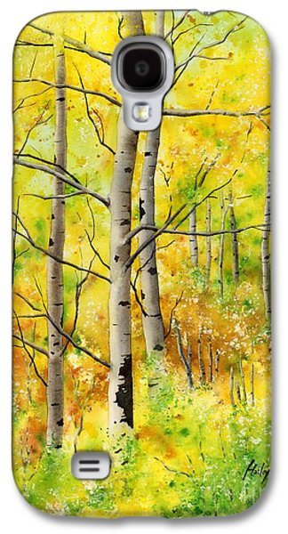 Early Spring Galaxy S4 Cases - Spring Aspens Galaxy S4 Case by Hailey E Herrera