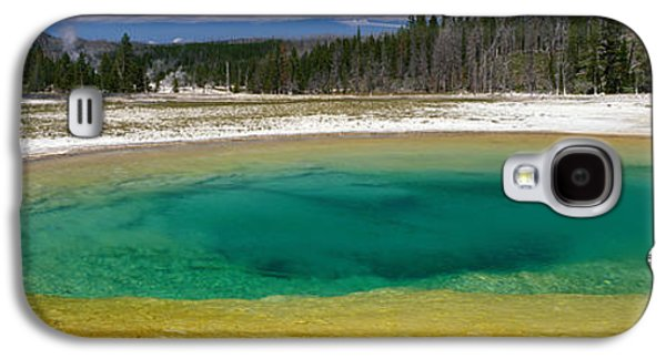 Alga Galaxy S4 Cases - Spring, Beauty Pool, Yellowstone Galaxy S4 Case by Panoramic Images