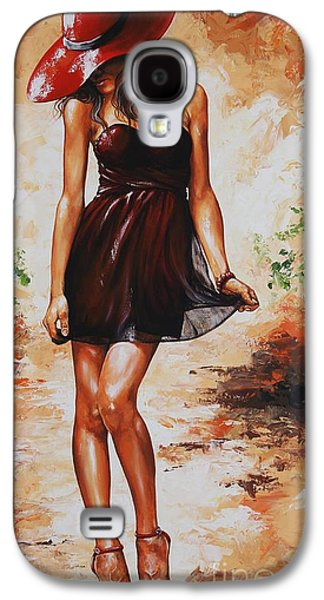 Sunny Mixed Media Galaxy S4 Cases - Spring breeze 04 Galaxy S4 Case by Emerico Imre Toth