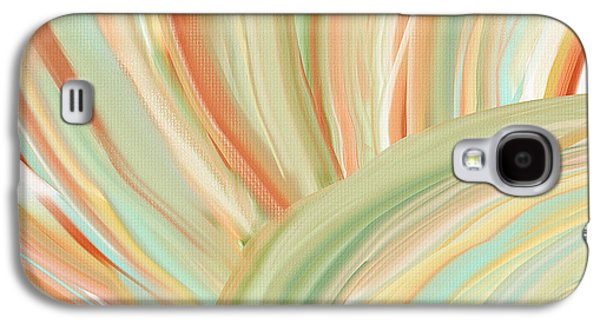 Colorful Abstract Galaxy S4 Cases - Spring Colors Galaxy S4 Case by Lourry Legarde